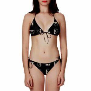 Dragon Ball Z Kakarot Chibi Black Minimalist Bikini Swimsuit
