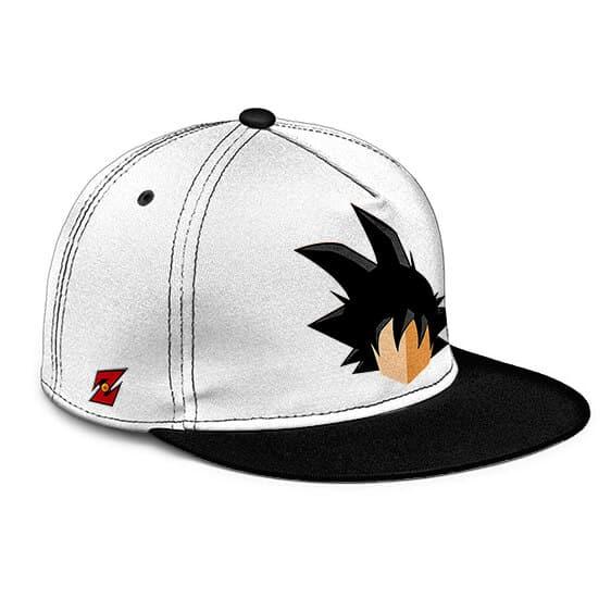 Dragon Ball Z Kakarot Flat Design Minimalist White Black Snapback Cap