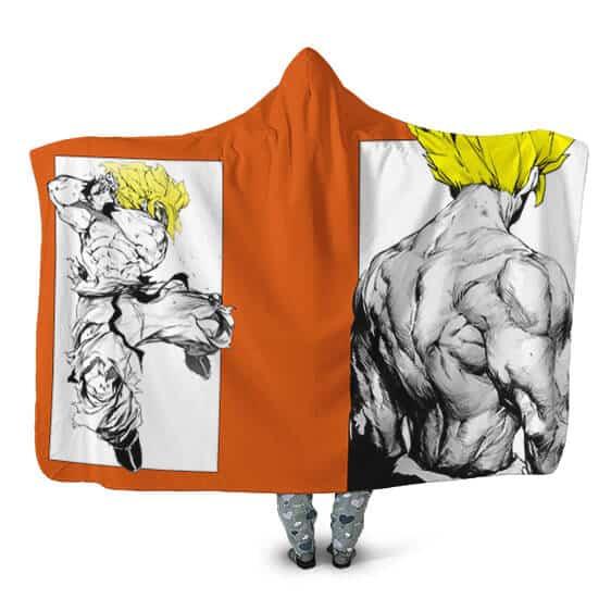 Dragon Ball Z Legendary Super Saiyan Son Goku Hooded Blanket