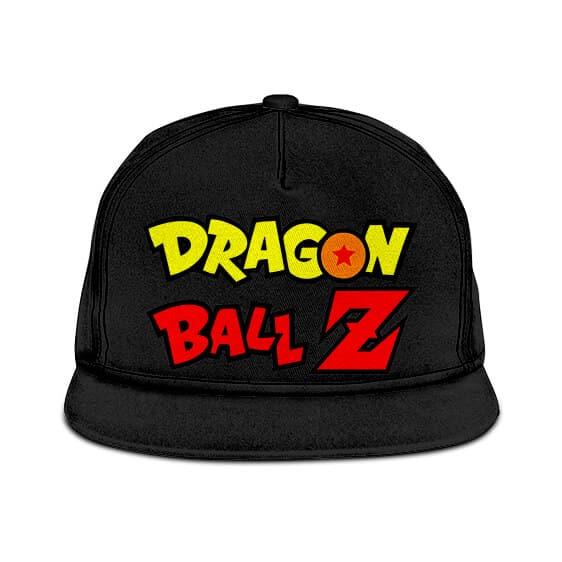 Dragon Ball Z Logo Minimalist Black Cool Snapback Cap
