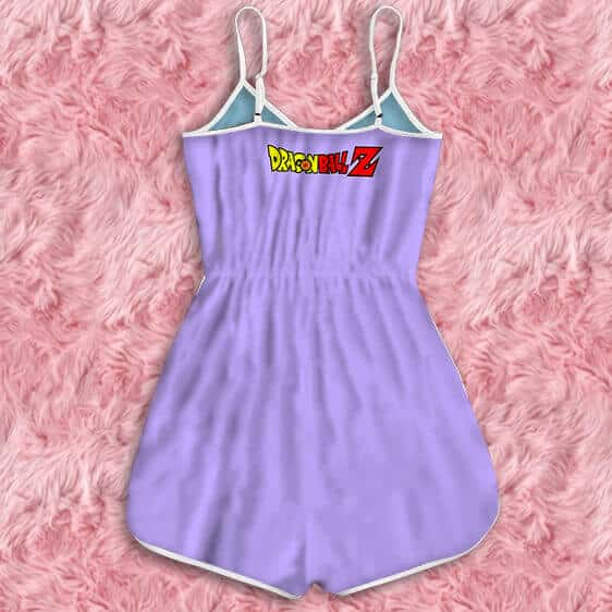 Dragon Ball Z Lord Frieza Iconic Print Awesome Purple Romper
