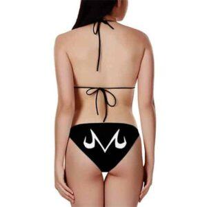 Dragon Ball Z Majin Symbol Black White Sexy Two Piece Bikini
