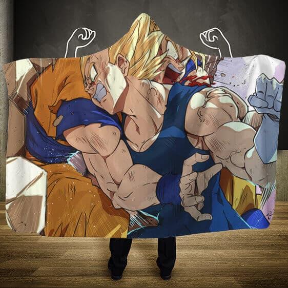 Dragon Ball Z Majin Vegeta Overpowering Goku Hooded Blanket