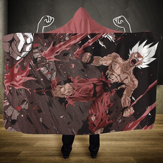 Dragon Ball Z Namek Final Moments Saiyan Goku Hooded Blanket