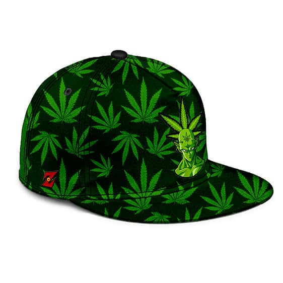 Dragon Ball Z Piccolo Stoner Weed Pattern Cool Snapback Hat