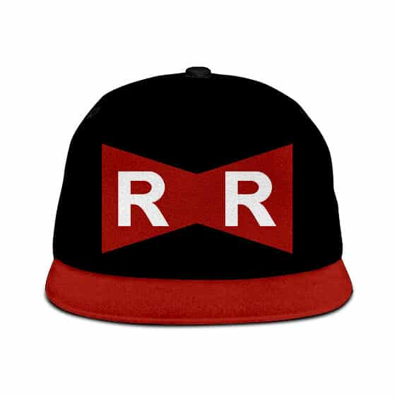 Dragon Ball Z Red Ribbon Army Logo Black Dope Snapback