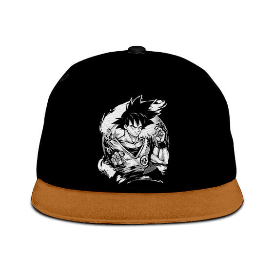 Dragon Ball Z Son Goku Base Form Dope Black Brown Snapback