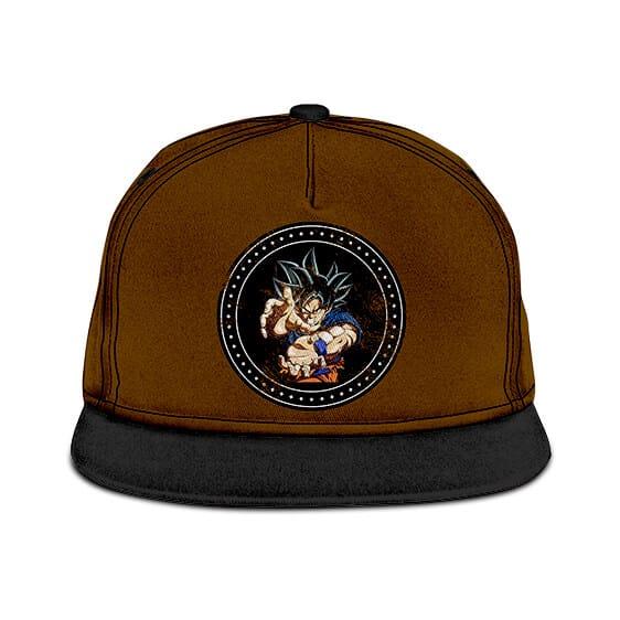Dragon Ball Z Son Goku Kamehameha Black Badge Brown Snapback Hat