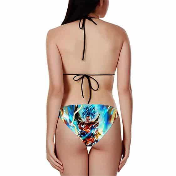 Dragon Ball Z Son Goku Super Saiyan Blue Cool Bikini Swimsuit