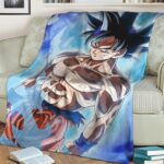 Dragon Ball Z Son Goku Ultra Instinct Dope Fleece Blanket