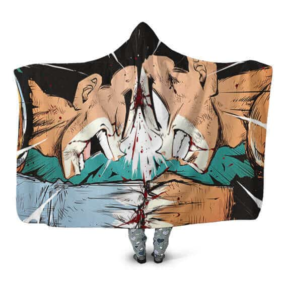 Dragon Ball Z The Rivalry Of All Time Awesome Hooded Blanket