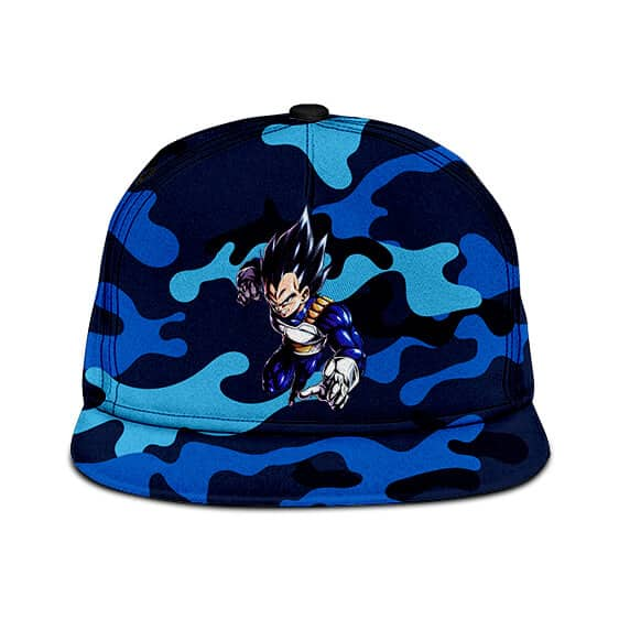 Dragon Ball Z Vegeta Base Form Blue Camouflage Cool Snapback Cap