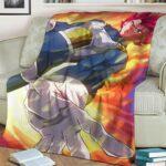 Dragon Ball Z Vegeta Super Saiyan God Majestic Pose Throw Blanket