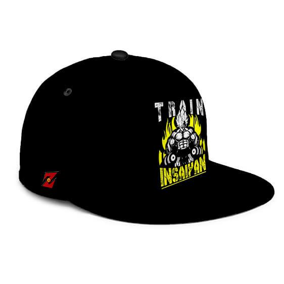 Dragon Ball Z Vegeta Train Insane Insaiyan Black Snapback