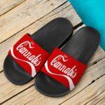 Enjoy Cannabis Marijuana Coca Cola Parody Weed Slide Footwear