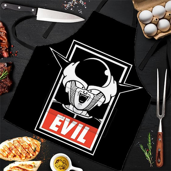 Evil Lord Frieza Dragon Ball Z Black Awesome and Cool Apron