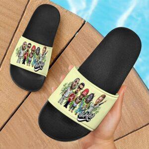 Famous Various Hip Hop Artists Smoke Marijuana Slide Footwear
