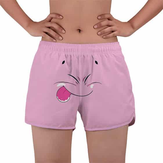 Fat Buu Funny Face Majin Symbol DBZ Women's Beach Shorts