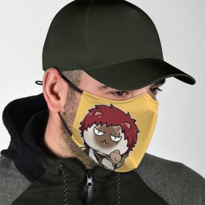 Gaara Cute Siamese Cat Naruto Awesome and Supercool Facemask