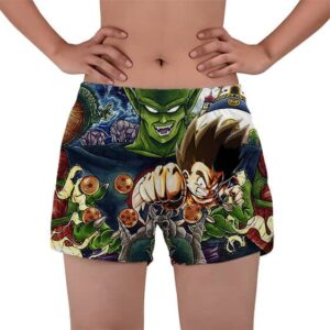 Goku Attack Vs King Piccolo Dragon Ball Women's Beach Shorts