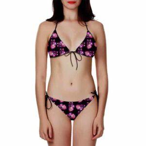 Goku Black Super Saiyan Rose Awesome Pattern Bikini Swimsuit