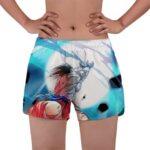 Goku Kamehameha Vs Vegeta Galick Gun Women's Beach Shorts