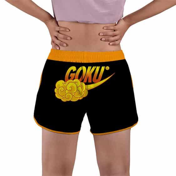 Goku Nimbus Cloud Nike Style Dragon Ball Z Women's Beach Shorts