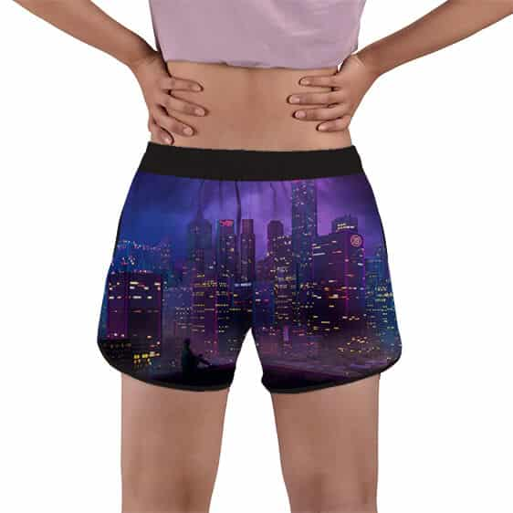 Goku on Casual Wear City Night Lights Women's Beach Shorts