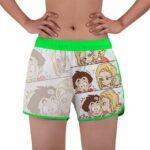 Happy Family Krillin Android 18 And Marron Women's Swim Shorts
