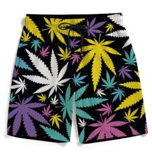 Hemp Doobie Ganja Colorful Patterns 420 Men's Boardshorts