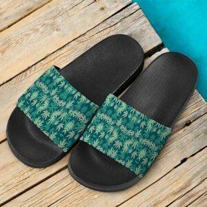 Hemp Leaves Marijuana Ganja Weed Kush Elegant Slides Sandals