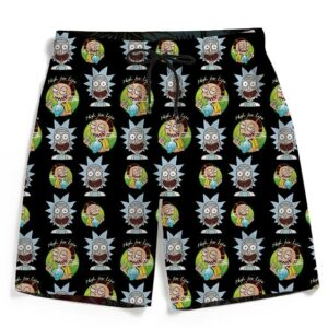 High Life Adventures of Rick & Morty Pattern 420 Men's Shorts