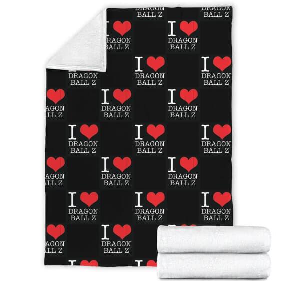 I Love Dragon Ball Z Full Black Cozy Awesome Blanket