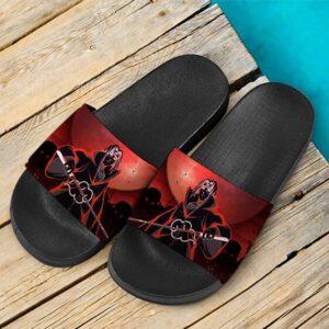 Itachi Uchiha Akatsuki Genjutsu Art Style Awesome Slide Sandals