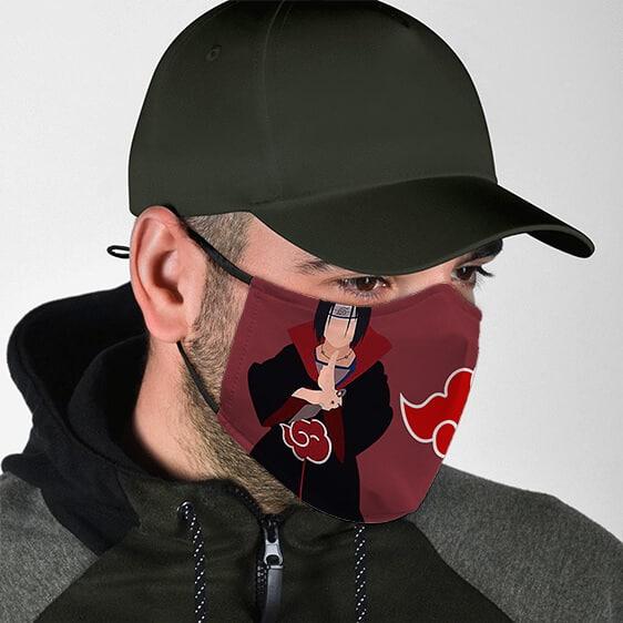 Itachi Uchiha Akatsuki Symbol Fierce Naruto Cloth Face Mask