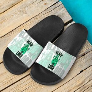 Jesus Smokes Blaze The Lord Funny Art Weed Slide Slippers