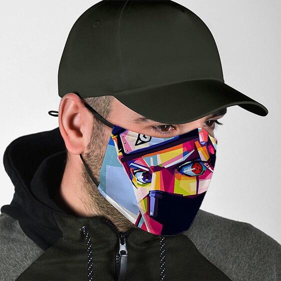 Kakashi Hatake One-Eye Sharingan Pop Art Naruto Face Mask