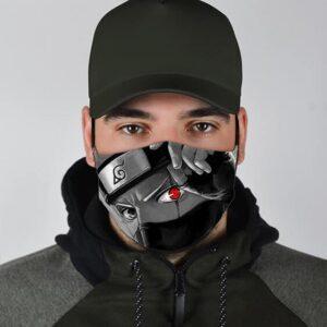 Kakashi Left Eye Sharingan Monochrome Filtered Face Mask
