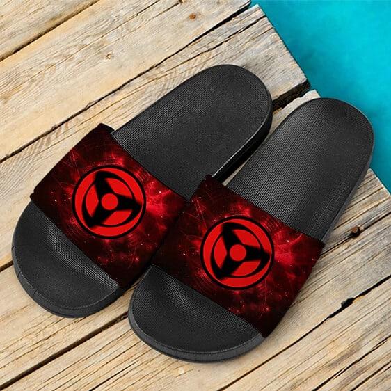 Kakashi Mangekyou Sharingan Fiery Red Cool Slide Sandals