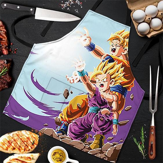 Kamehameha SSJ Son Goku and Gohan DBZ Awesome Powerful Apron