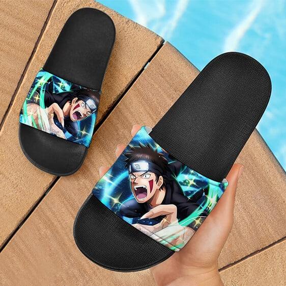 Kiba Inuzuka Ninja Voltage Artwork Fantastic Slide Footwear