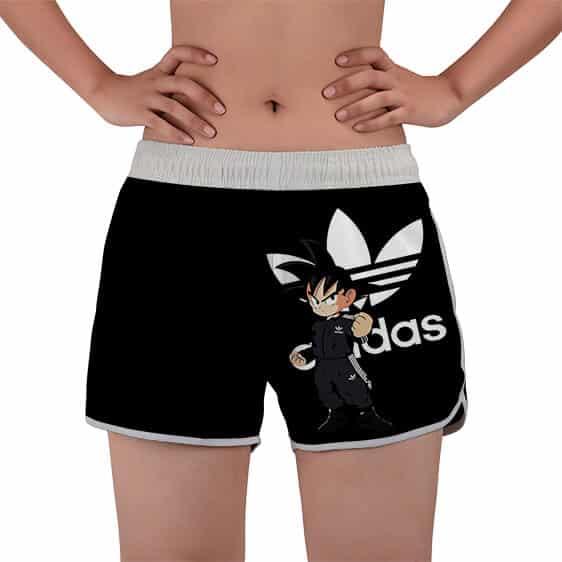 Kid Goku Adidas Parody Style Dragon Ball Z Women's Swim Shorts