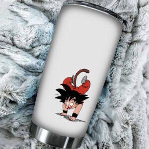 Kid Son Goku Hand Stand Dragon Ball Cool And Awesome Tumbler