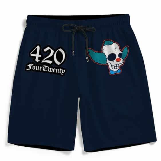Krusty Sticker Skull Art 420 Four Twenty Dope Beach Shorts