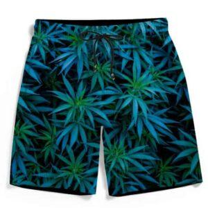 420 Marijuana Kush Blue Green Fantastic Men's Boardshorts