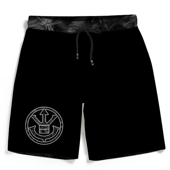 Kush Collective Marijuana Saiyan Logo Black Beach Shorts