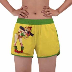 Launch Bad Girl Dragon Ball Z Yellow Women's Swim Shorts