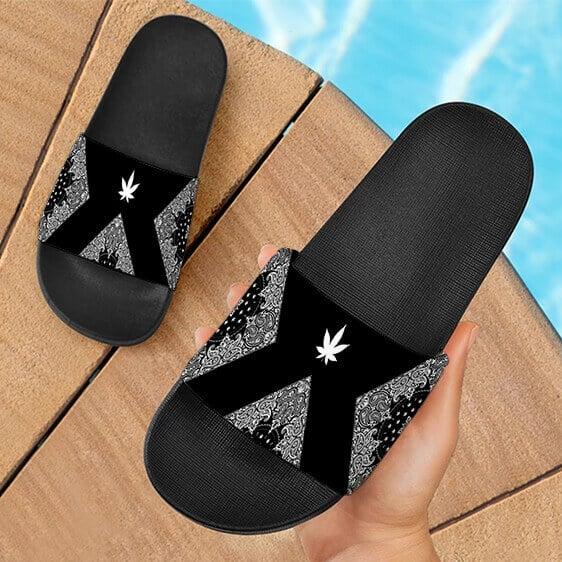 Legendary OG Kush Sativa Strain 420 Bandana Slide Sandals