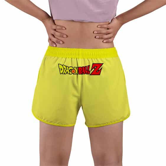 Livid Super Saiyan Majin Vegeta Yellow Women's Beach Shorts