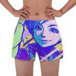 Lovely Adult Bulma Dragon Ball Z Vibrant Women's Beach Shorts